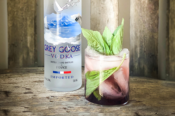 Easy Blueberry Basil Cocktail Recipe | Grey Goose House Pours