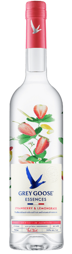 GREY GOOSE® Essences Strawberry & Lemongrass bottle