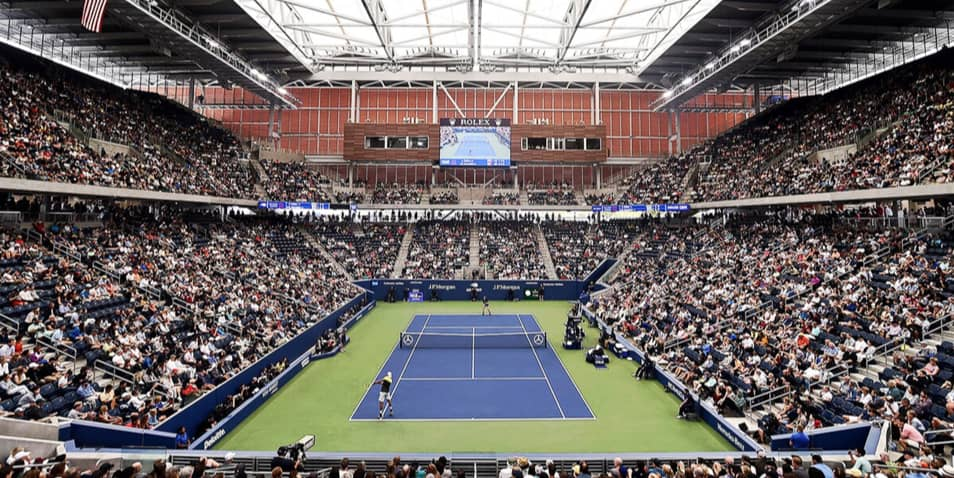 Where can I download GREY GOOSE® video conferencing backgrounds for the US Open Tennis Championships?